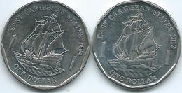 East Caribbean - Elizabeth II - 1 Dollar - 2004 (KM39) 2012 (KM39a) - East Caribbean States