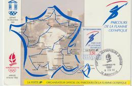 Carte-Maximum FRANCE N° Yvert 2732 (FLAMME OLYMPIQUE) Obl Sp Ill Albertville (Ed La Poste) - 1990-99