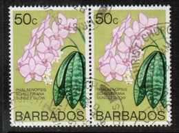 BARBADOS  Scott # 407 VF USED HORIZONTAL PAIR (Stamp Scan # 499) - Barbados (1966-...)