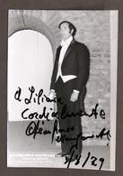 Musica Lirica - Autografo Del Cantante Gianfranco Manganotti - 1979 - Autografi