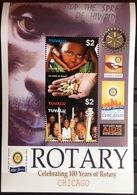 Tuvalu 2005 Rotary Sheetlet MNH - Tuvalu