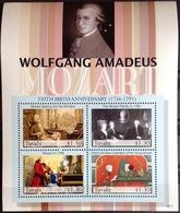 Tuvalu 2006 Mozart Sheetlet MNH - Tuvalu