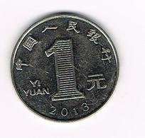 // CHINA  1 YI YUAN  2013 - Chine