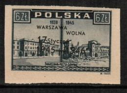 POLAND  Scott # 386* VF MINT LH IMPERFORATE (Stamp Scan # 499) - 1944-.... Republic