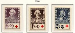 PIA - FINLANDIA  - 1935 : Pro Croce Rossa - Ritratti Di Scienziati   - (Yv 180-82) - Primo Soccorso