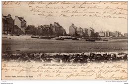 GRANDCAMP-les-BAINS.   La PLage ( Côté Est )   Carte écrite En 1903  Dos Simple  2 Scans  TBE - France