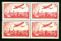 PA 11 - 2F50 Rose Avion Sur Paris - Bloc De 4 - Neuf N** - Cote 204 Eur+ - Airmail