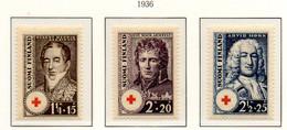 PIA - FINLANDIA  - 1936 : Pro Croce Rossa - Ritratti Di Statisti   - (Yv 186-88) - Primo Soccorso