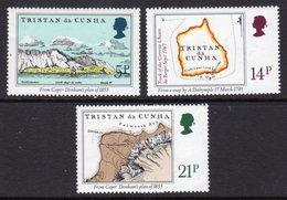 TRISTAN DA CUNHA - 1981 EARLY MAPS SET (3V) FINE MNH ** SG 304-306 - Tristan Da Cunha