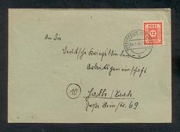Sowjet. Besatzungszone, Ost-Sachsen 1946, Bedarfsbrief Von Hirschfelde Nach Halle/Saale Am 4.1.1946,  Mi. 60 A. - Zone Soviétique