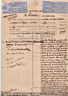 INDIA RAJPIPLA PRINCELY STATE 8-Annas/4-Annas COURT FEE DOCUMENT 1938-45 GOOD/USED - Rajpeepla