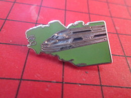 918A Pin's Pins / Rare Et De Belle Qualité / THEME TGV : BRETAGNE TGV Jusqu'à Brest ? Et ça Les Empechera Pas De Geindre - TGV