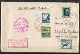 Allemagne 4 Timbres Dont N° 566 PA 56 Sur Lettre - Lettres & Documents