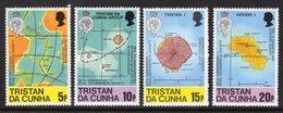 TRISTAN DA CUNHA - 1980 ROYAL GEOGRAPHICAL SOCIETY ANNIVERSARY MAPS SET (4V) FINE MNH ** SG 296-299 - Tristan Da Cunha
