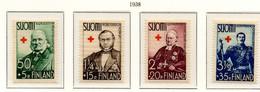 PIA - FINLANDIA  - 1938 : Pro Croce Rossa - Rappresentanti Dei 4 Stati Alla Dieta Del 1863   - (Yv 196-99) - Primo Soccorso