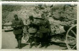 ALBANIA -  OCCUPAZIONE FASCISTA - CAMPO MILITARE ITALIANO - UFFICIALI - RPPC POSTCARD 1941 (BG3313) - Albanië