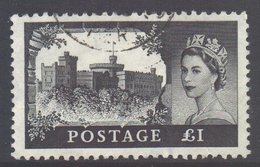 GB Scott 374 - SG598a, 1959 Multiple Crowns Castles £1 Used - 1952-.... (Elizabeth II)