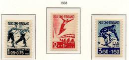 PIA - FINLANDIA  - 1938 : Campionati Internazionale Di Sci A Lahti   - (Yv 200-02) - Sci