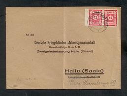 Sowjet. Besatzungszone, Ost-Sachsen 1946, Bedarfsbrief, Mi. # 63 V (2x) - Zone Soviétique
