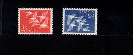 763027175 1956 SCOTT 353 354 POSTFRIS  MINT NEVER HINGED EINWANDFREI  (XX)  WHOOPER SWANS - Norvège