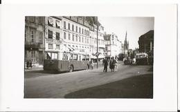 Photo -Trolleybus - Metz En 1955 - Moselle - 57 - Animée - Lieux