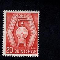 763027994 1943 SCOTT B31 POSTFRIS  MINT NEVER HINGED EINWANDFREI  (XX)  FRONTIER GUARDSMEN EMBLEM - Norvège