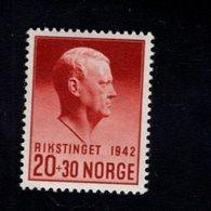 763028699 1942 SCOTT B27 POSTFRIS  MINT NEVER HINGED EINWANDFREI  (XX)  VIDKUN QUISLING - Norvège