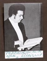 Musica Lirica - Autografo Del Cantante Michelangelo Veltri - 1980 - Autografi