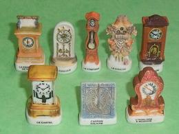 "Lot De 8 Fèves / Horloge , Pendule  "" Mat ""   TB3 - Fèves"