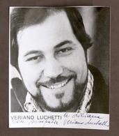 Musica Lirica - Autografo Del Tenore Veriano Luchetti - 1980 Ca. - Autografi