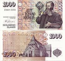 ICELAND      1000 Krónur      P-59[e]     L. 22.5.2001 (ca. 2010)     UNC    [sign. 66] - Iceland