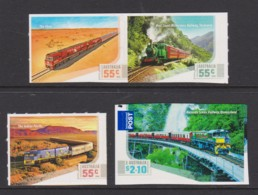 Australia 2010 Railways - Trains Set Of 4 Self-adhesives MNH - Ungebraucht