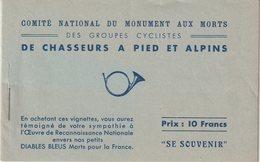 FRANCE : CARNET . DES GROUPES CYCLISTES DES CHASSEURS A PIED ET ALPIN . TB . - Blocs & Carnets