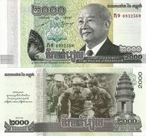 CAMBODIA       2000 Riels       Comm.     P-64       2013        UNC - Cambogia