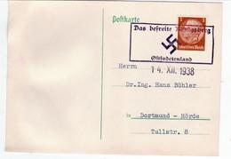 "III. Reich, Postkarte  "" Das Befreite KÖNIGSBERG"" Nach Dortmund - Hörde, - Briefe U. Dokumente"