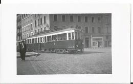 Photo -Thème Transport - Tramway  à  Lyon En 1955 -  -  Animée  - Tramway - Gare - Train - Trains
