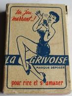 Rare Ancien Jeu 32 Cartes LA GRIVOISE Illustrateur Pour Rire Et S'amuser En Société 16 Bleues Pour Messieurs - 32 Cartes