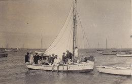 CARTE PHOTO  à Identifier  Voilier Bateau De Pêche Immatriculation RO ROUEN Manche - A Identifier