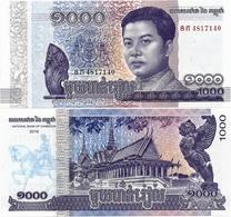 CAMBODIA       1000 Riels       P-67       2016        UNC - Cambodia