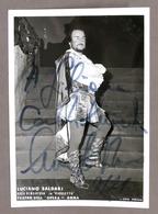 Musica Lirica - Autografo Del Tenore Luciano Saldari - 1980 Ca. - Autografi