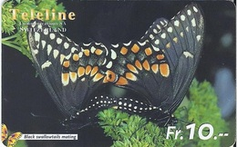 SWITZERLAND - TELELINE - BUTTERFLY - BLACK SWALLOWTAILS MATING - Suisse