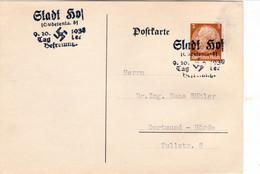 """III. Reich, Postkarte  """" STADT HOF; Tag Der Befreiung"""" Nach Dortmund - Hörde, - Briefe U. Dokumente"""