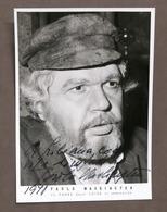 Musica Lirica - Autografo Del Basso Paolo Washington - 1978 - Autografi