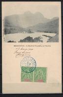 MADAGASCAR        N° YVERT  :    42 A X 2 Sur Carte Postale         OBLITERE - Madagascar (1889-1960)