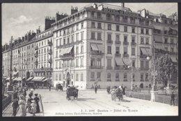 Genève - Hôtel De Russie - Voiture Kutsche - Belebt – Animée - GE Genf