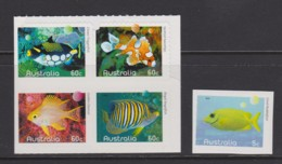 Australia 2010 Fishes Of The Reef Self-adhesives MNH - Mint Stamps
