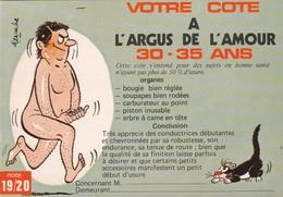HUMOR UMORISTICHE CARICATURE UOMO VOTRE COTE A L'ARGUS DE L'AMOUR 30-35 ANS  ORIGINALE 100% - Humor