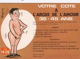 HUMOR UMORISTICHE CARICATURE UOMO VOTRE COTE A L'ARGUS DE L'AMOUR 35-45 ANS  ORIGINALE 100% - Humor