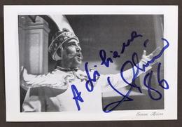 Musica Lirica - Autografo Del Basso-baritono Simone Alaimo - 1986 - Autografi