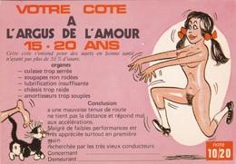 HUMOR UMORISTICHE CARICATURE DONNA VOTRE COTE A L'ARGUS DE L'AMOUR 15-20 ANS  ORIGINALE 100% - Humor